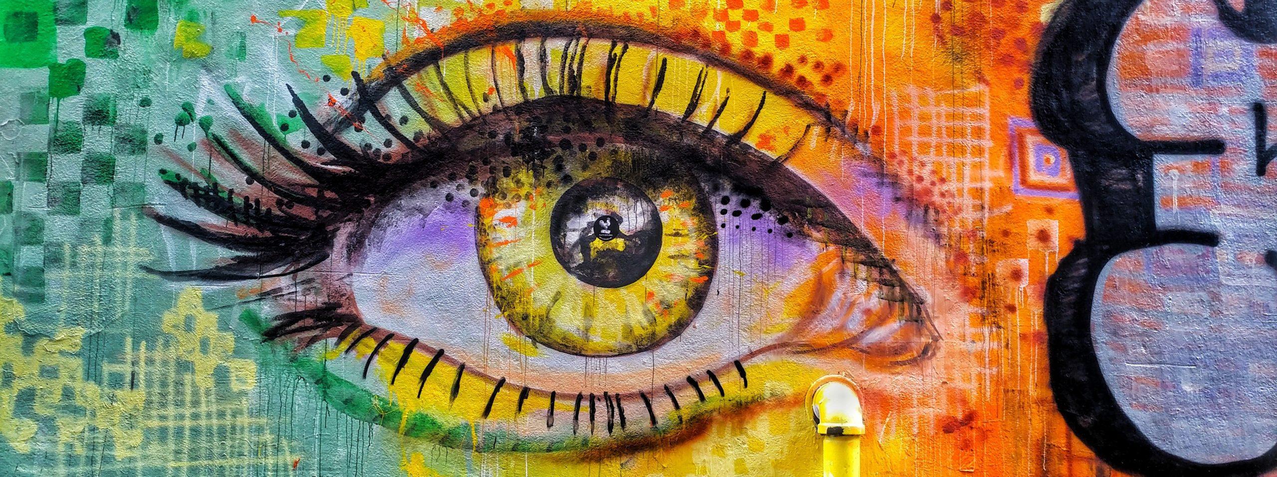 Street art occhio eye arte